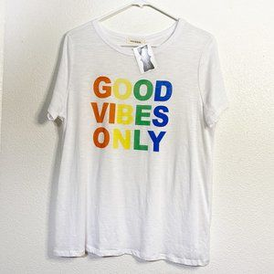 'Good Vibes Only' Graphic T-shirt NWT Size L
